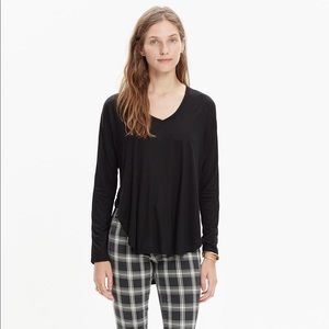 Madewell Anthem long-sleeve v-neck tee, S size